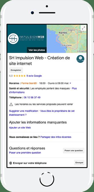 Fiche Google My Business SH Impulsion Web