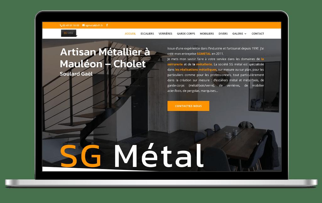 Refonte site vitrine SG Metal - après
