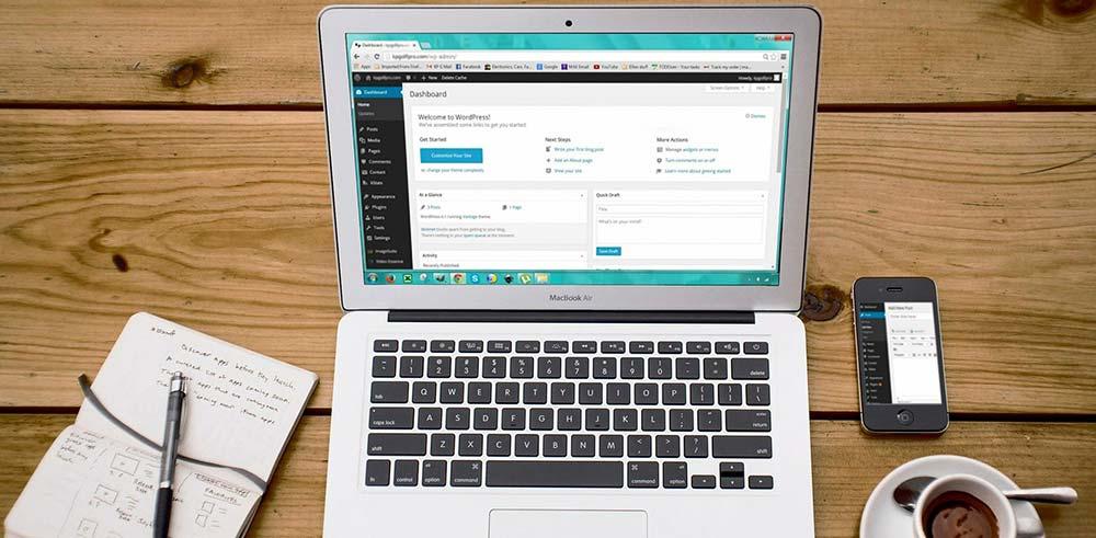 Création site vitrine , page administration wordpress