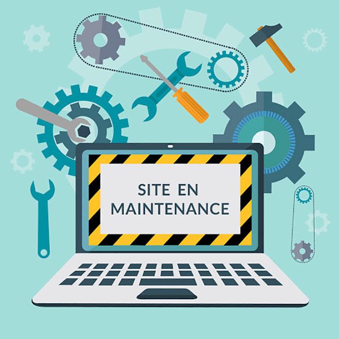 illustration maintenance site internet