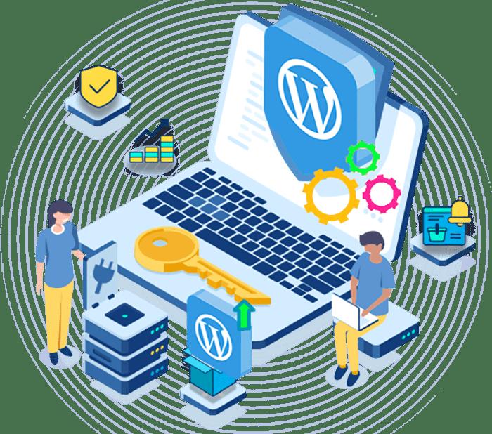 Bouton maintenance wordpress sur un clavier