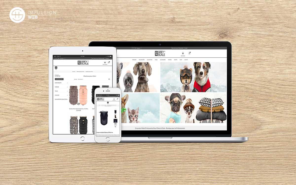Creation boutique en ligne pour Greyscale - SH Impulsion Web