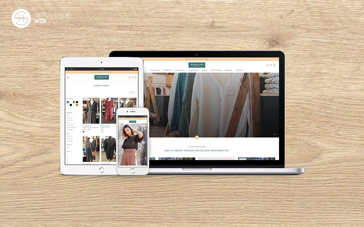Illustration site e-commerce la valise de véro