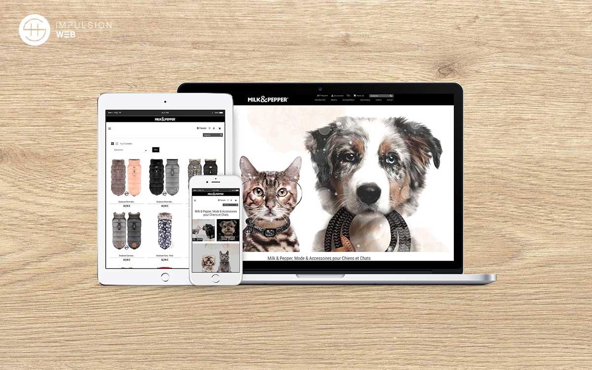 Site E-commerce Prestashop pour Milk&PEpper - SH Impulsion Web