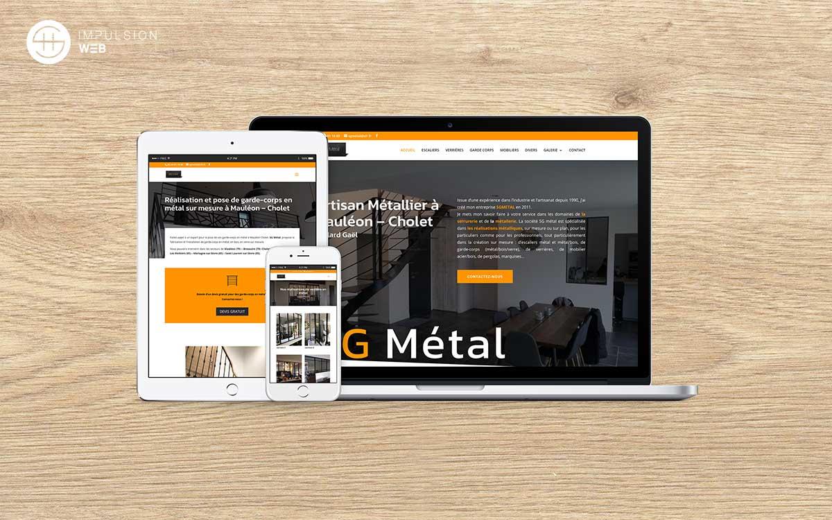 illustration site vitrine sg métal