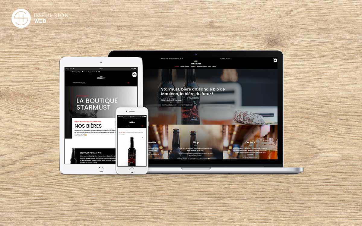 Création d'un site e-commerce sous woocommerce pour une marque de bière - SH Impulsion Web