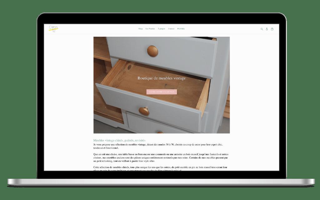 Refonte site e-commerce Citron12 - avant