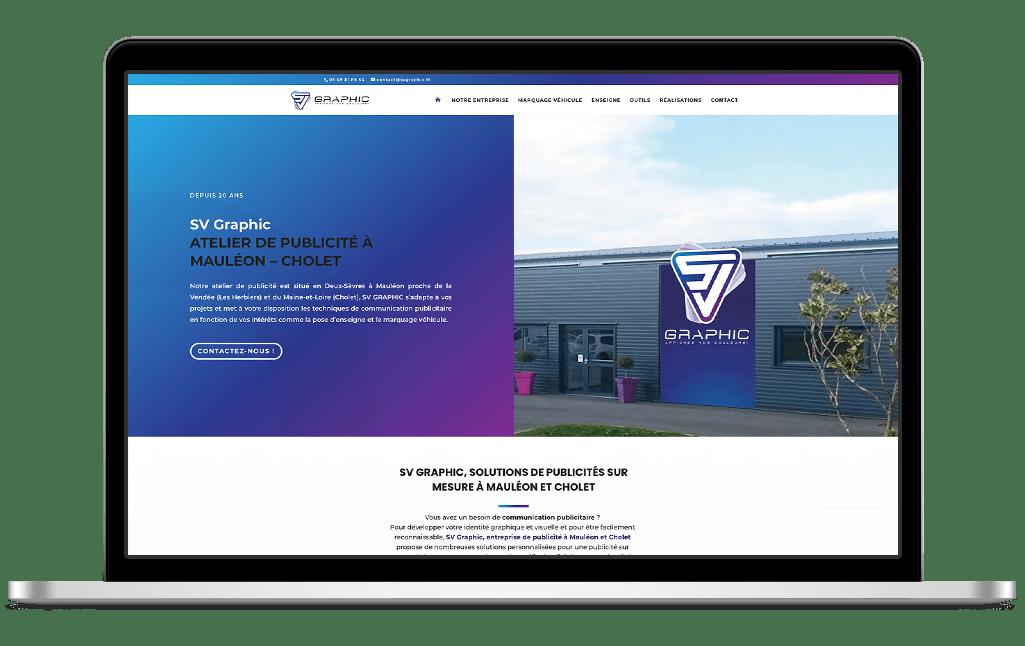 Refonte site vitrine SV Graphic - après