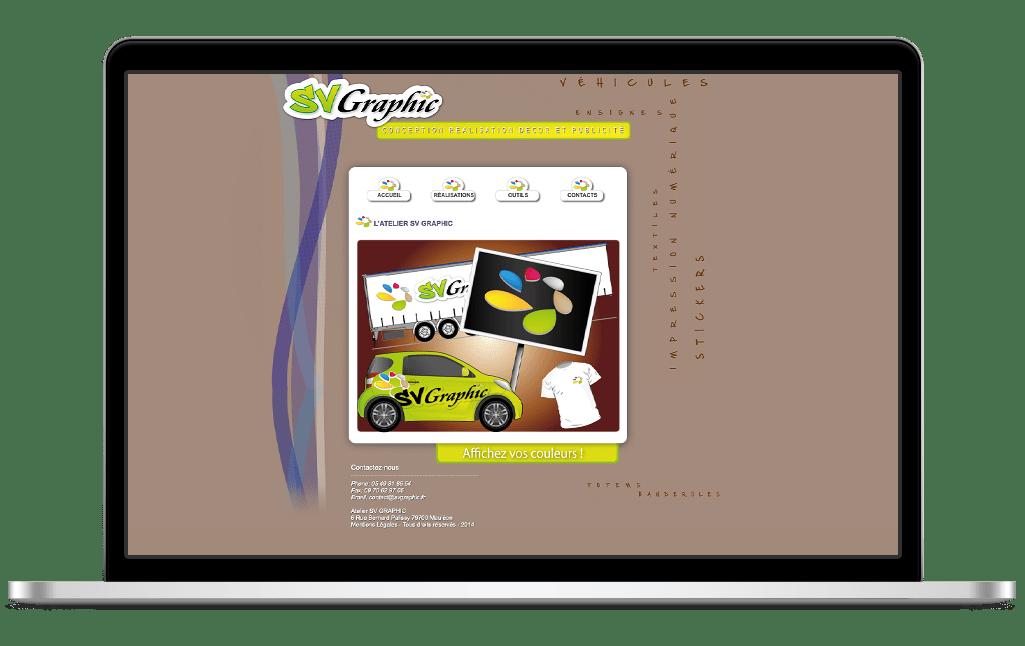 Refonte site vitrine SV Graphic - avant